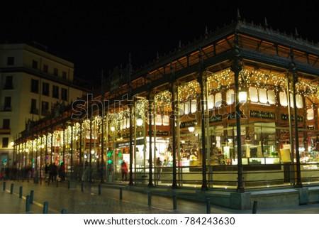 Mercado de San Miguel, Madrid, Spain Foto stock ©