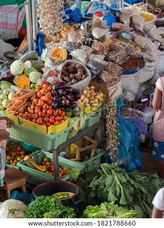 Mercado Municipal di Praia in Plato. The capital Praia on the Ilha de Santiago, Cape Verde. Foto stock ©