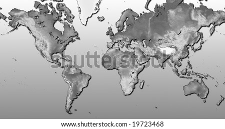 Mercator World Map - Europe Centered