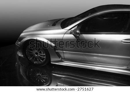 Mercedes DTM Black and White version - stock photo