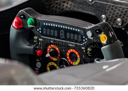 Mercedes Formula 1 steering wheel