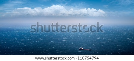 merchant ship and bad weather