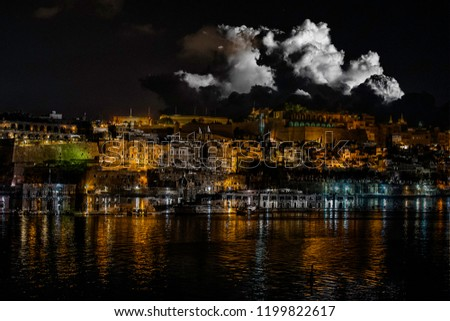 Merged photos of Valletta.