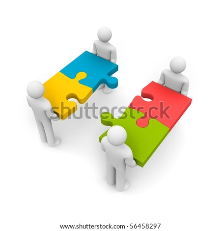 Merger - stock photo