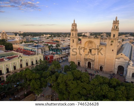 Merida Cathedral downtown #746526628