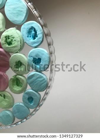 Meringues of pastel colors #1349127329