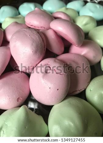 Meringues of pastel colors #1349127455
