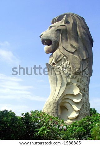 Sentosa Island Singapore Pictures on Merlion  Sentosa Island  Singapore Copyright  Brian J  Abela