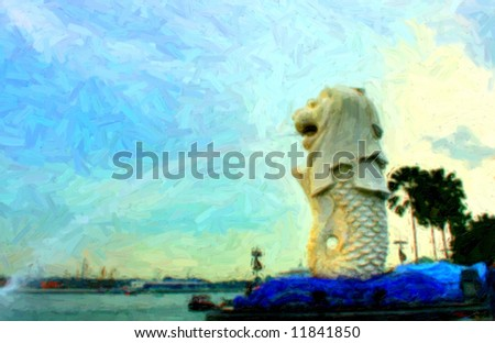 Merlion Singapore Picture on Merlion Singapore Painting Style Stock Photo 11841850   Shutterstock