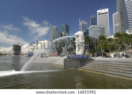 Merlion Singapore Picture on Stock Photo   Merlion Statue At Merlion Park Singapore  The Merlion