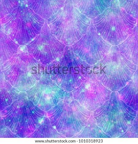 Mermaid Fantasy Galaxy Print