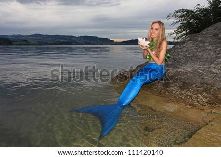 Mermaid on the coast