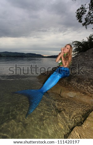 Mermaid on the coast