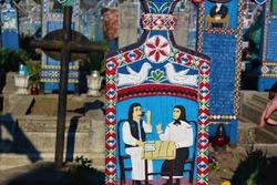 Merry Cemetery in Romania, Maramures