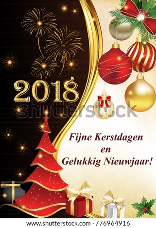 merry christmas and a happy new year 2018 greeting card with text written italian print colors used size of a custom postcard ez canvas