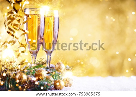 merry christmas and happy new year a new years background with new year decorations and