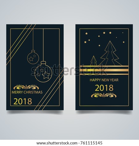 Merry Christmas greeting card set. #761115145