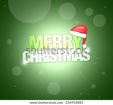 Merry Christmas red graphic design