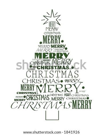 Merry Christmas Tree in Type
