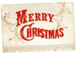 Merry christmas - Vintage Christmas Card.