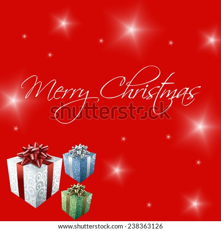 Merry Christmas white text on red background illustration #238363126