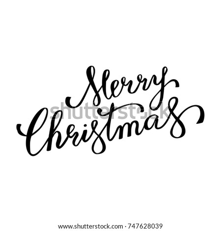 Merry christmas winter holiday greeting card calligraphy hand drawn merry christmas winter holiday greeting card calligraphy hand drawn font lettering on white background for m4hsunfo