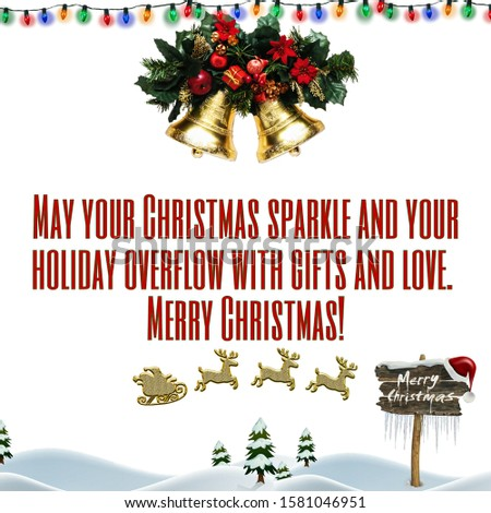 Merry Christmas wishing messages and greeting card, abstract background editable texts and blank space for writing your own text, graphic illustration design wallpaper