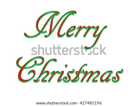 Merry Christmas Words Clip Art