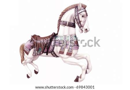Merry-go-around horse
