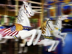 merry-go-round at a theme park