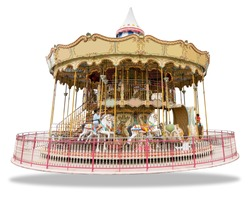 Merry go round isolated on white background
