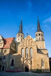 merseburg, germany - cathedral with twin towers