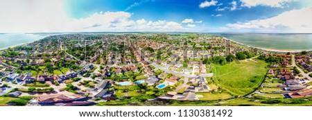 Mersey Island Aerial views, Essex - panoramic #1130381492