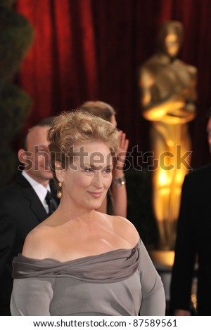 Meryl Streep at the 81st Academy Awards at the Kodak Theatre, Hollywood. February 22, 2009  Los Angeles, CA Picture: Paul Smith / Featureflash