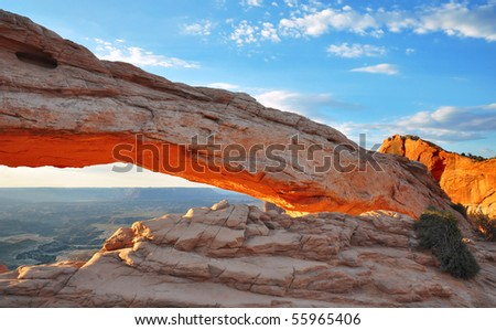 Mesa Arch in Canyonlands National Park, Utah.