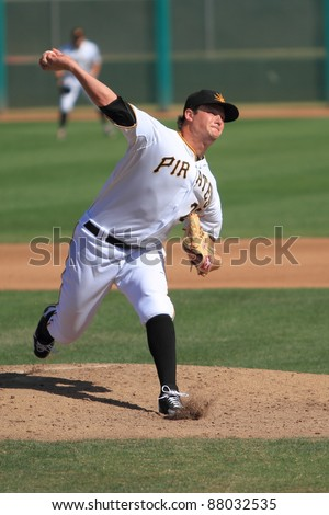 MESA, AZ - OCTOBER 26: Pittsburgh's Gerrit Cole, the number-one overall draft pick in 2011, pitches for the Mesa Solar Sox in the Arizona Fall League Oct. 26, 2011 at HoHoKam Stadium, Mesa, AZ.