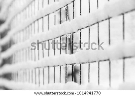 mesh in winter on nature in park background