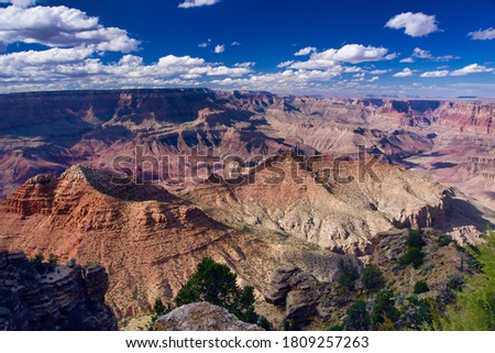 Mesmerizing landscape - the Grand Canyon, with its beautiful colors, is a magical place and geological treasure.  stock photo
