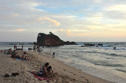 Mesmerizing Parrot Rock at Mirissa beach, Srilanka, Sunrise