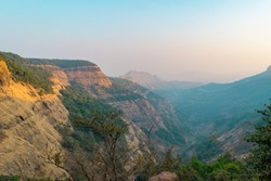 Mesmerizing view at  Matheran a hill station near Mumbai, Maharashtra on Sahyadri range of western ghat a