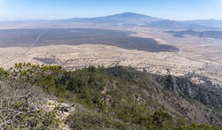 Mesmerizing view of the Cofre de Perote inactive volcanic mountain under the blue sky in Mexico