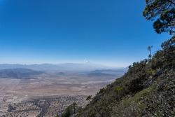 Mesmerizing view of the Pico de Orizaba stratovolcano gleaming under the blue sky in Mexico