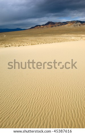 Mesquite Sand Dunes in remote part of Death Valley