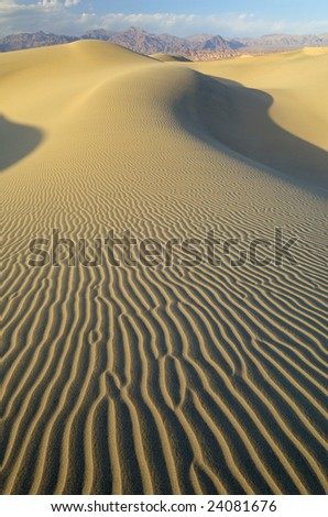 Mesquite Sand Dunes near sunset, Death Valley National Park, California, USA