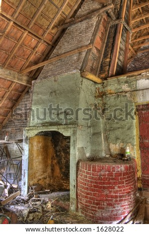 Mess in an old house - The house is abandoned for 30 years.