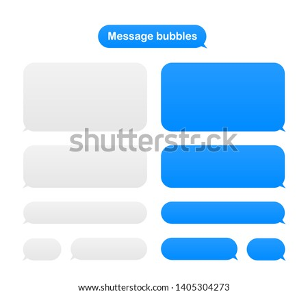 Message bubbles design template for messenger chat. stock illustration.