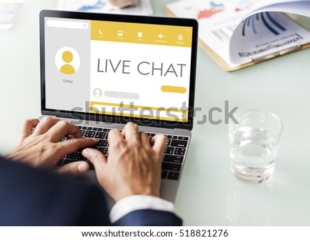 Message Live Chat Communication Concept #518821276