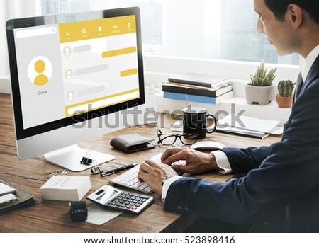 Message Live Chat Communication Concept #523898416