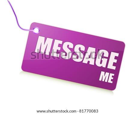 Message me label