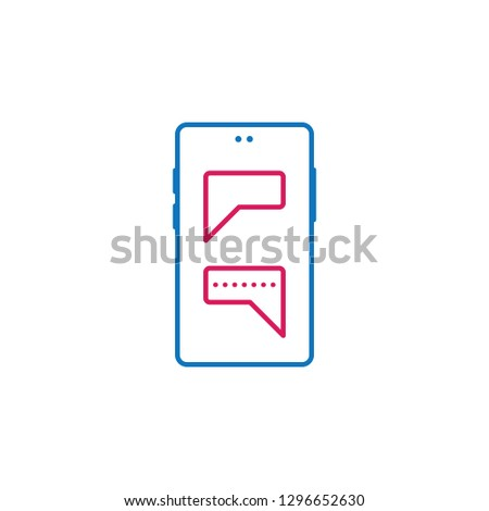 message, messaging, text, chat icon. Element of mobile and smartphone icon for mobile concept and web apps. Detailed message, messaging, text, chat icon can be used for web